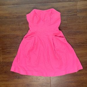 Lilly Pulitzer pink strapless dress 6